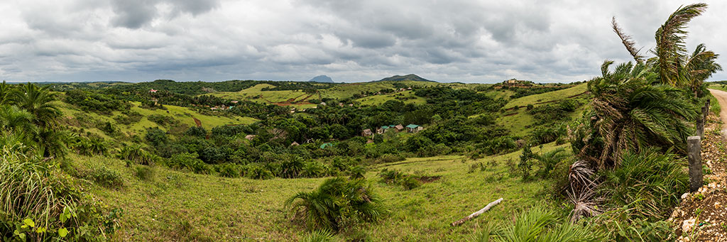 Green lush landscape at Itbayat in Batanes, Philippines