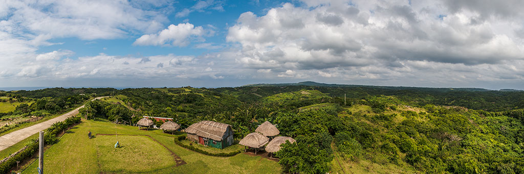 View from one of the view decks at Itbayat in Batanes, Philippines