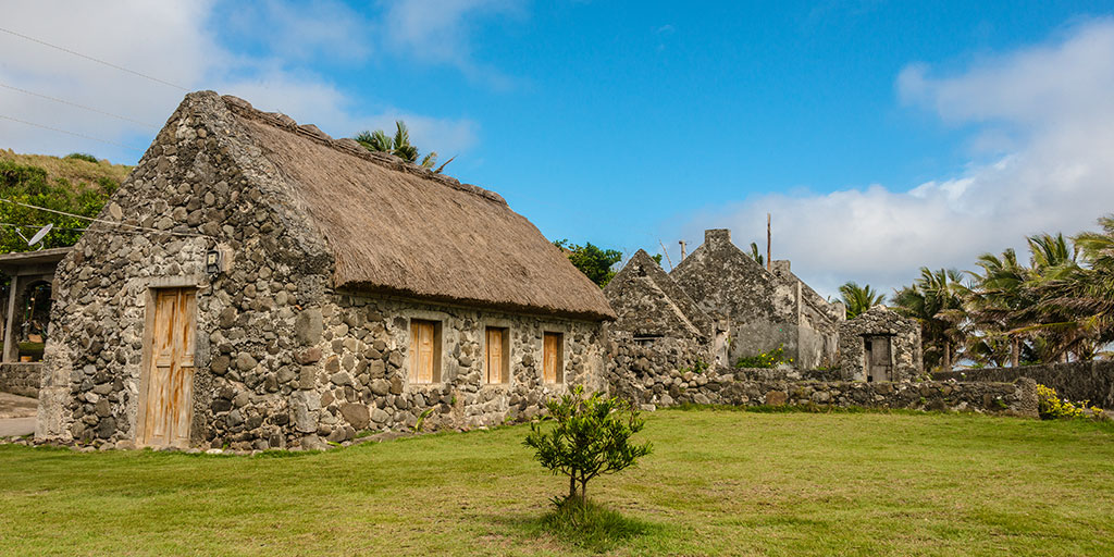 Ivatan stone house at Sabtang in Batanes, Philippines