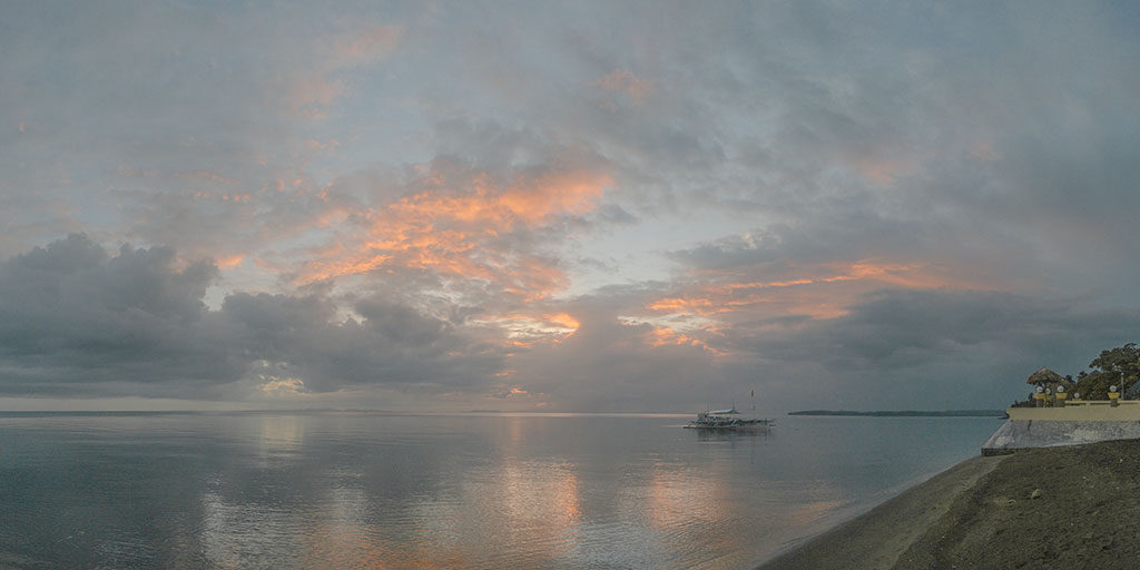 Sunset seen from my resort at Donsol, famous for diving with whalesharks.