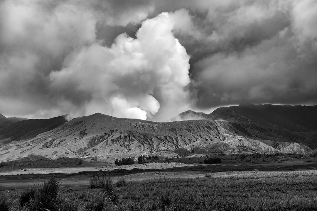 At the foot of Mt Bromo