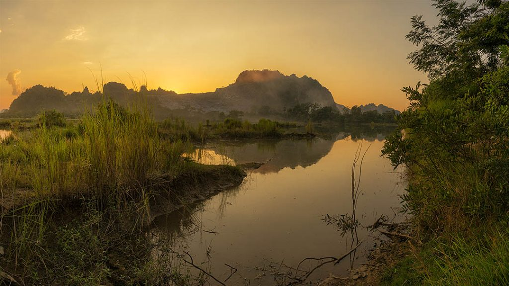 Scenery west of Hpa An